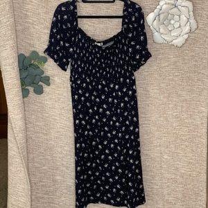 [nine britton] Midi Smocked Peasant Dress NWT
